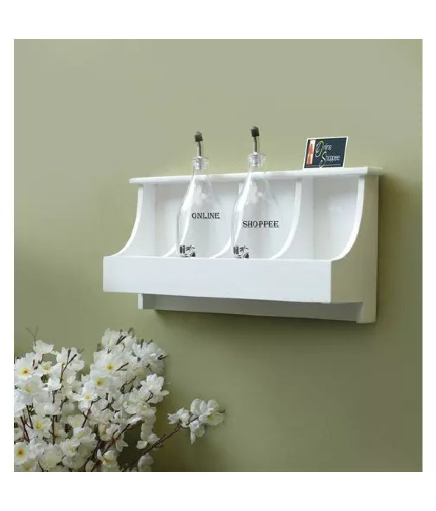 Onlineshoppee Wooden Wall Decor Wall Shelf Rack/Bracket