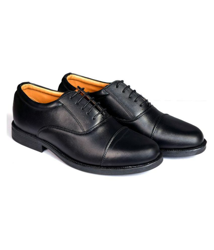eecc7f67f4 Bata Oxfords Genuine Leather Black Formal Shoes Price in India- Buy ...