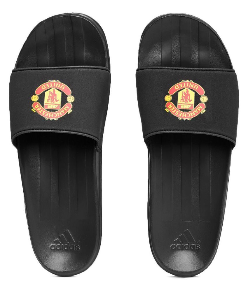 caa40a5d71b Adidas Men Manchester United FC Black Slide Flip flop Price in India- Buy Adidas  Men Manchester United FC Black Slide Flip flop Online at Snapdeal
