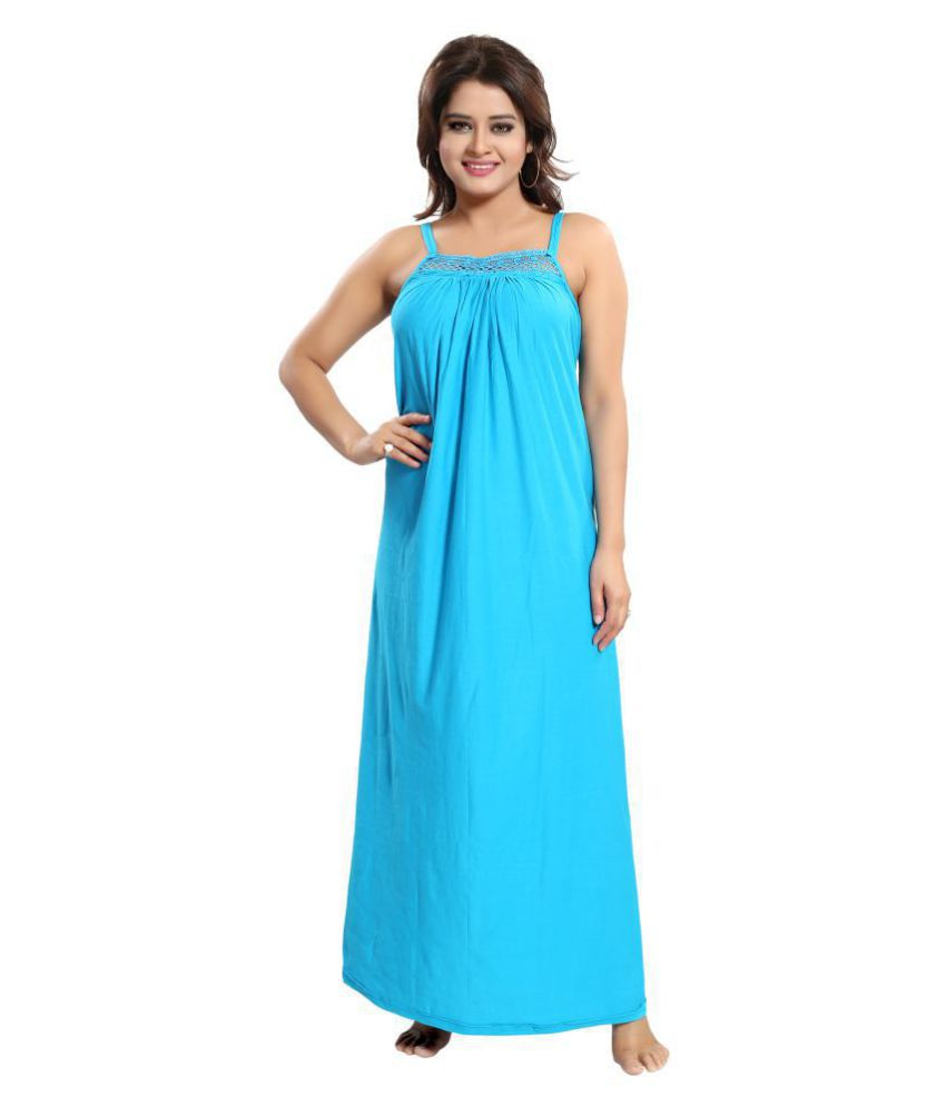 Cinco Satin Nighty & Night Gowns - Turquoise