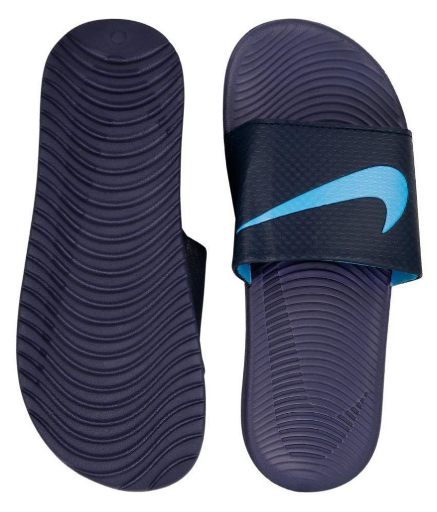 15b95d3ba248 Nike kawa slide Blue Slide Flip flop Price in India- Buy Nike kawa slide  Blue Slide Flip flop Online at Snapdeal