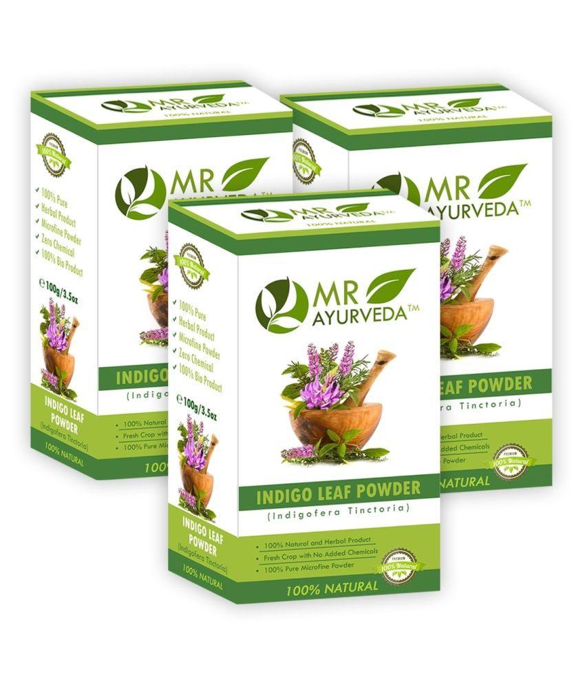 9364f47813d6 MR Ayurveda 100% Natural Indigo Leaves Powder- Pack of 3 Natural Henna 300  g Pack of 3