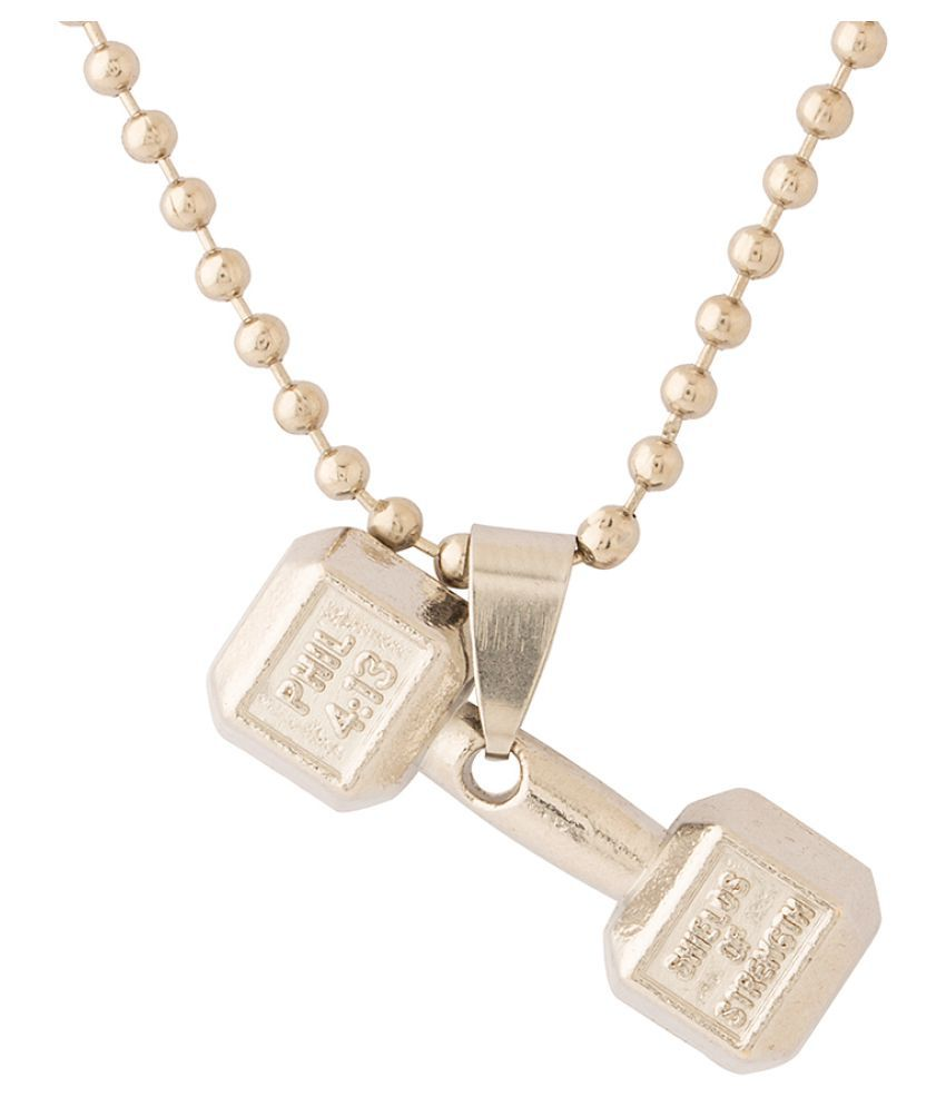 Dare by Voylla Dumble Design Pendant With Chain For Men