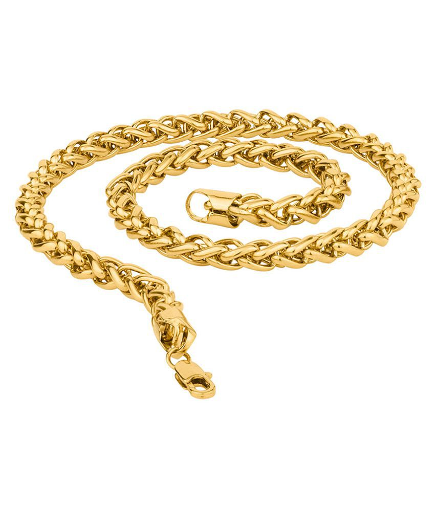 Dare by Voylla Gold-Plated Linking Laureate Franco Link Chain