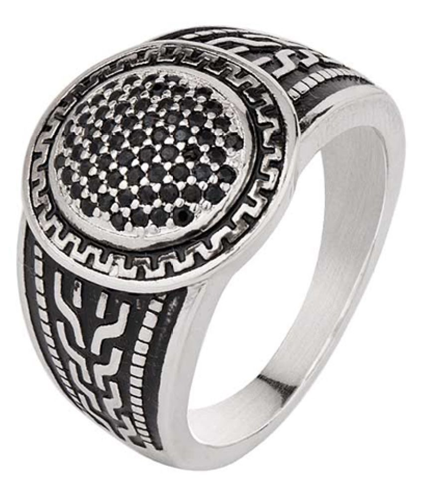 Dare by Voylla Silver Plated Ring from Standout Collection