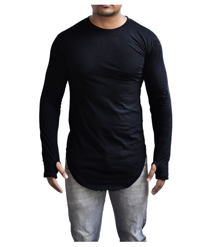 Collkart Black Round T-Shirt Pack of 1
