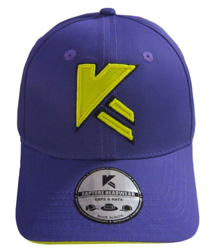 Kapture Headwear Purple Cotton Caps