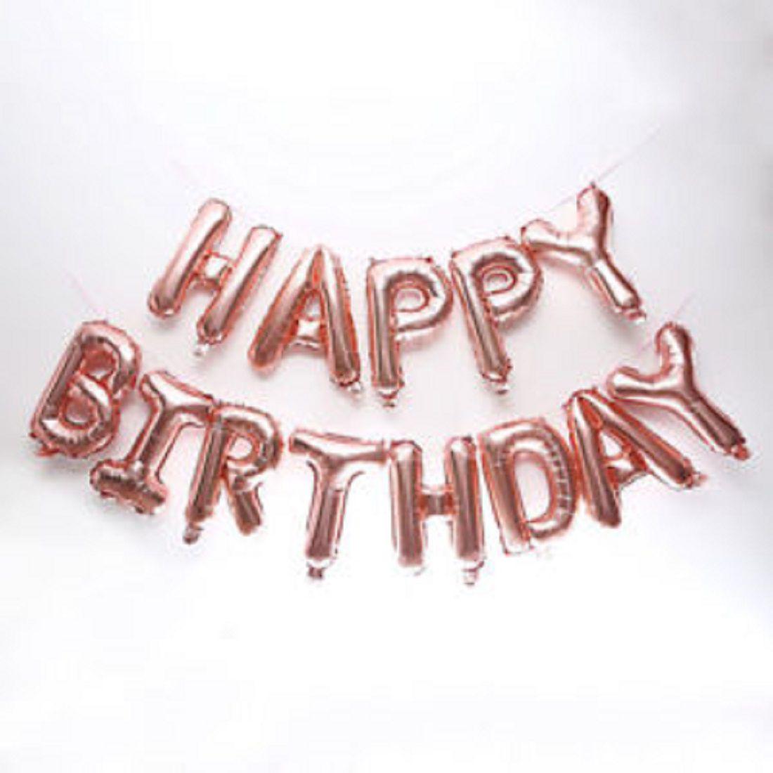 Shopperskart Happy Birthday Letter Alphabet Helium Foil Air Balloons