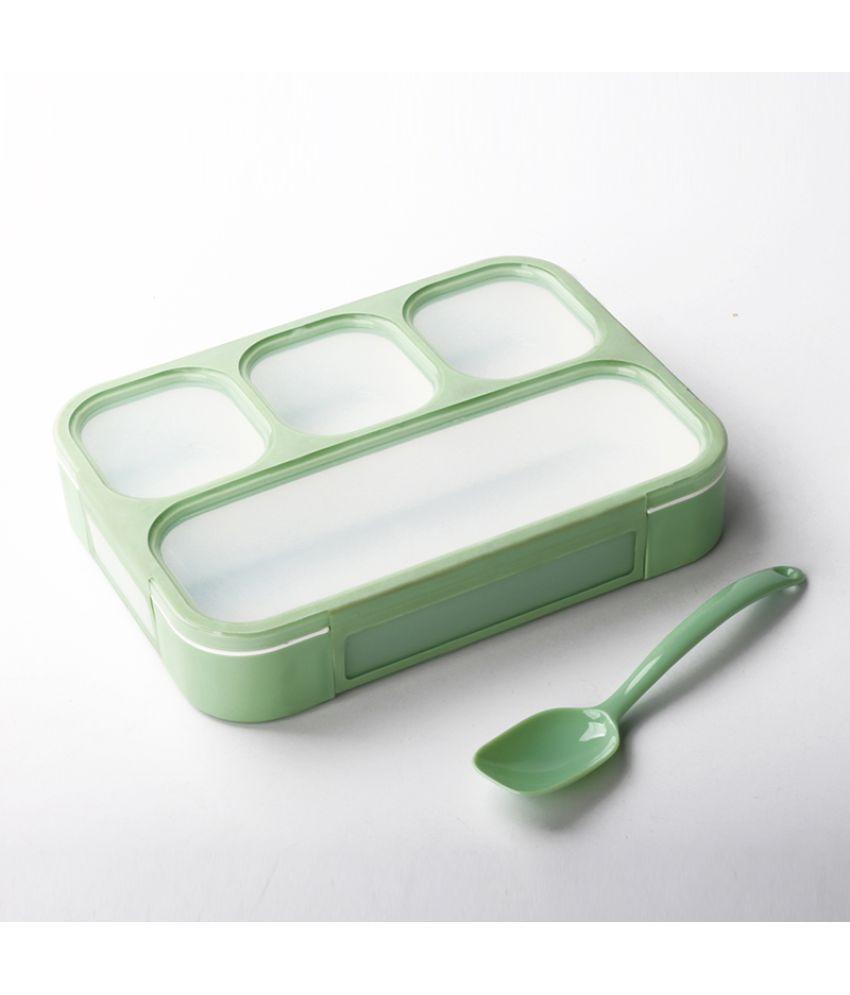 Jeeya Green Virgin Plastic Lunch Box