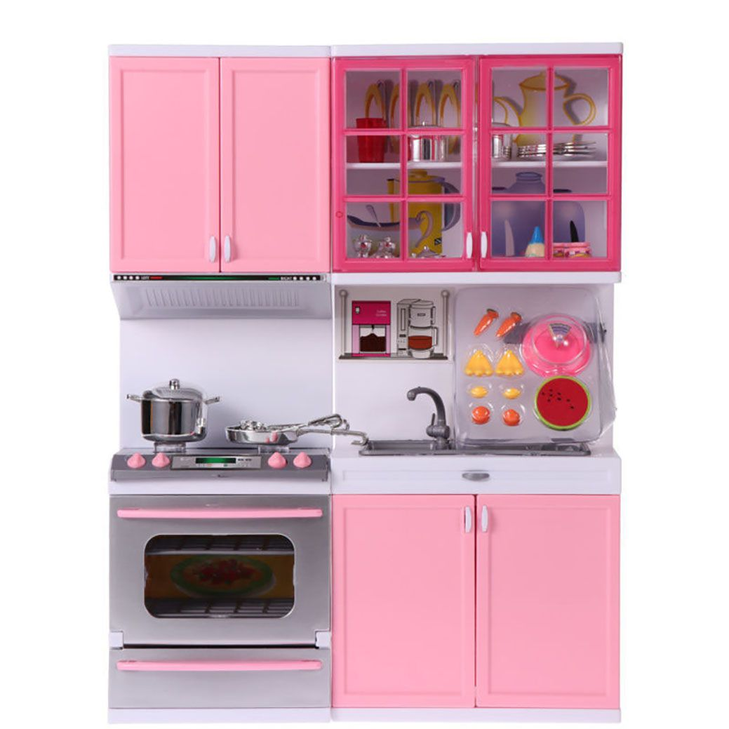 Kitchen Set Kids Luxury Battery Operated Kitchen Set Toy With Light