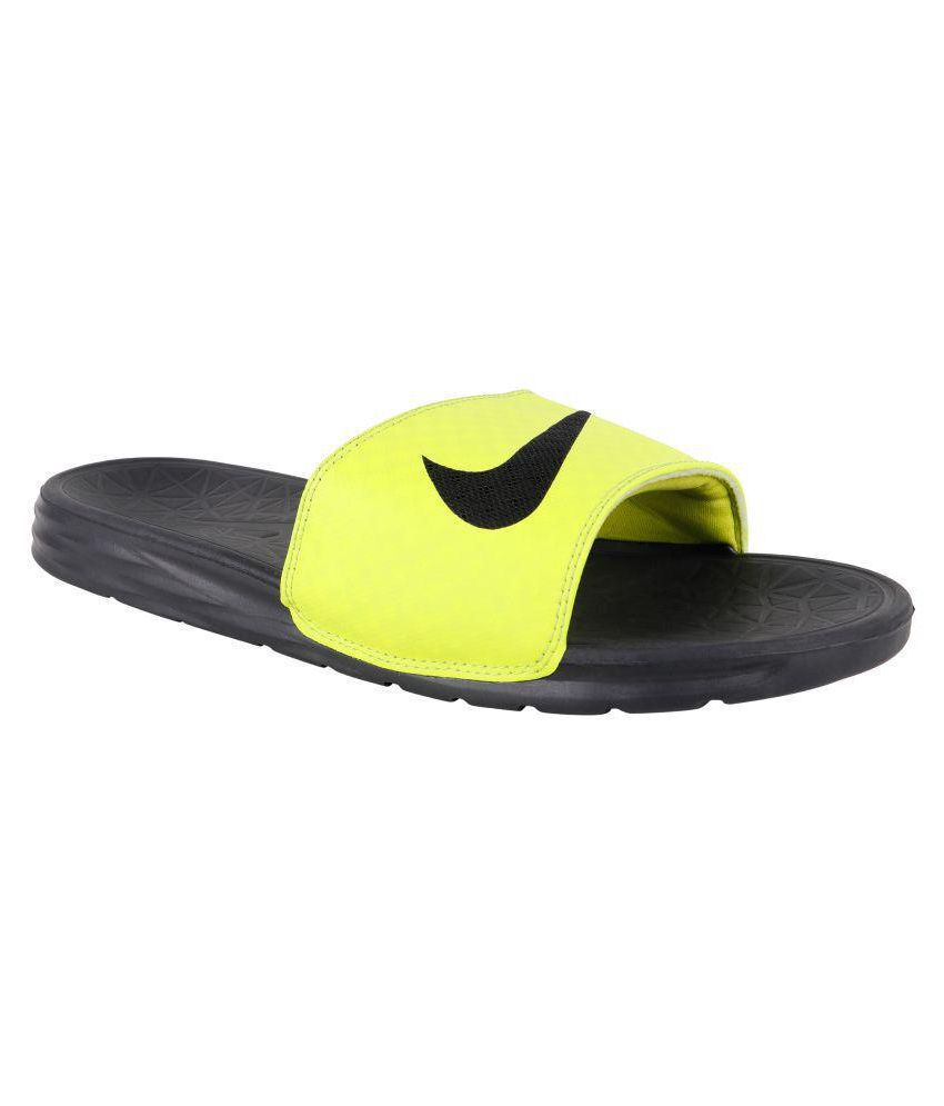 online store 2428b 55f87 Nike NA Yellow Daily Slippers