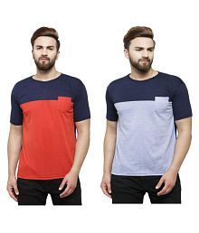 Rico Sordi Multi Round T-Shirt Pack of 2