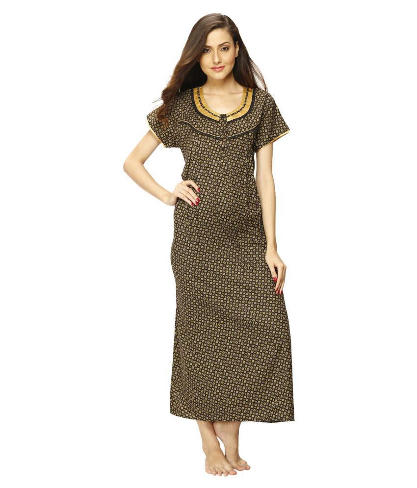 Vixenwrap Polyester Nighty & Night Gowns - Gold