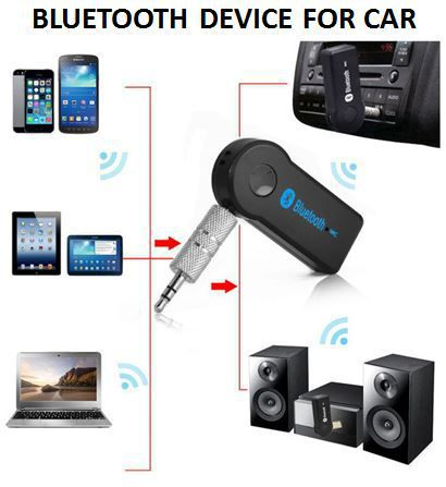 Car Bluetooth Receiver (3 5 mm Pin) - Pair with Car Stereo, Music System,  Home Theater System, Computer  Compatible with All Android & IOS Devices