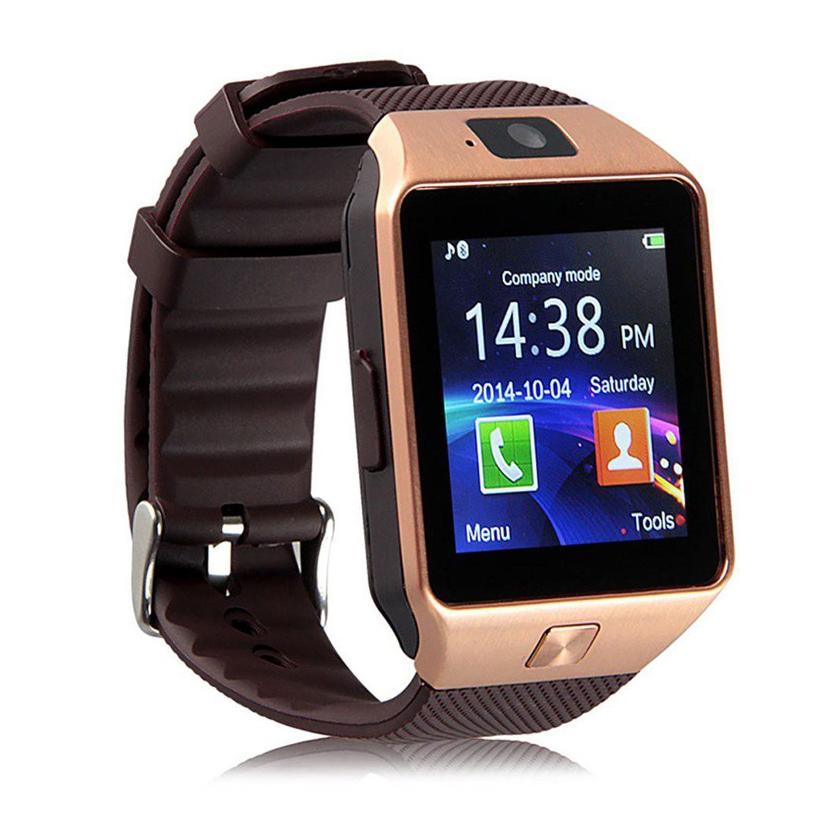 Over Tech Smartwatch Suited Xolo Q710s Dz09 Golden Smart Watches