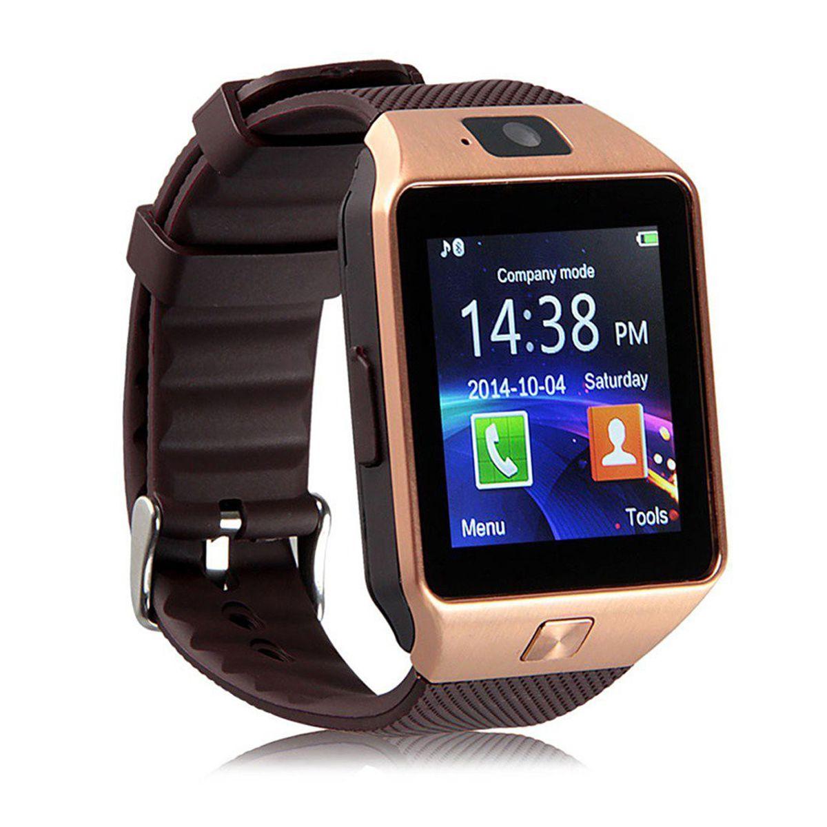 Over Tech Smartwatch Suited Lava A50 Dz09 Golden Smart Watches