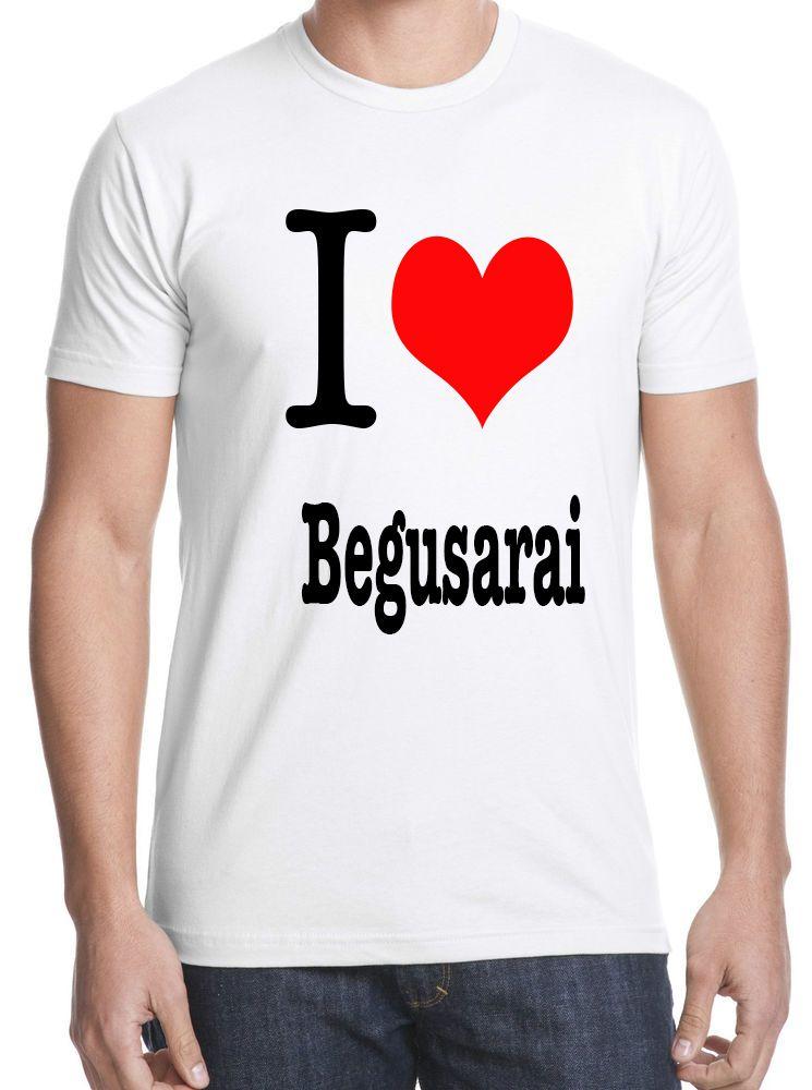 Tshirt on I Love Begusarai-XL