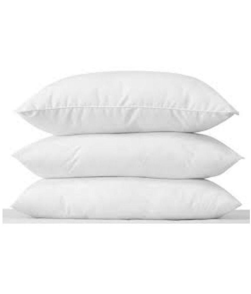 Panipat Textile Hub Set of 3 Fibre Pillow