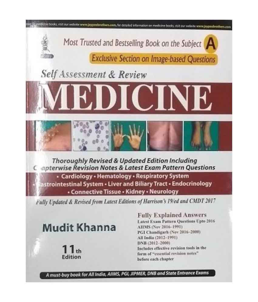 Self Assessment And Review Of Medicine 11 Th Edition 2017 (Part A & Part B)  (Mudith Khanna)