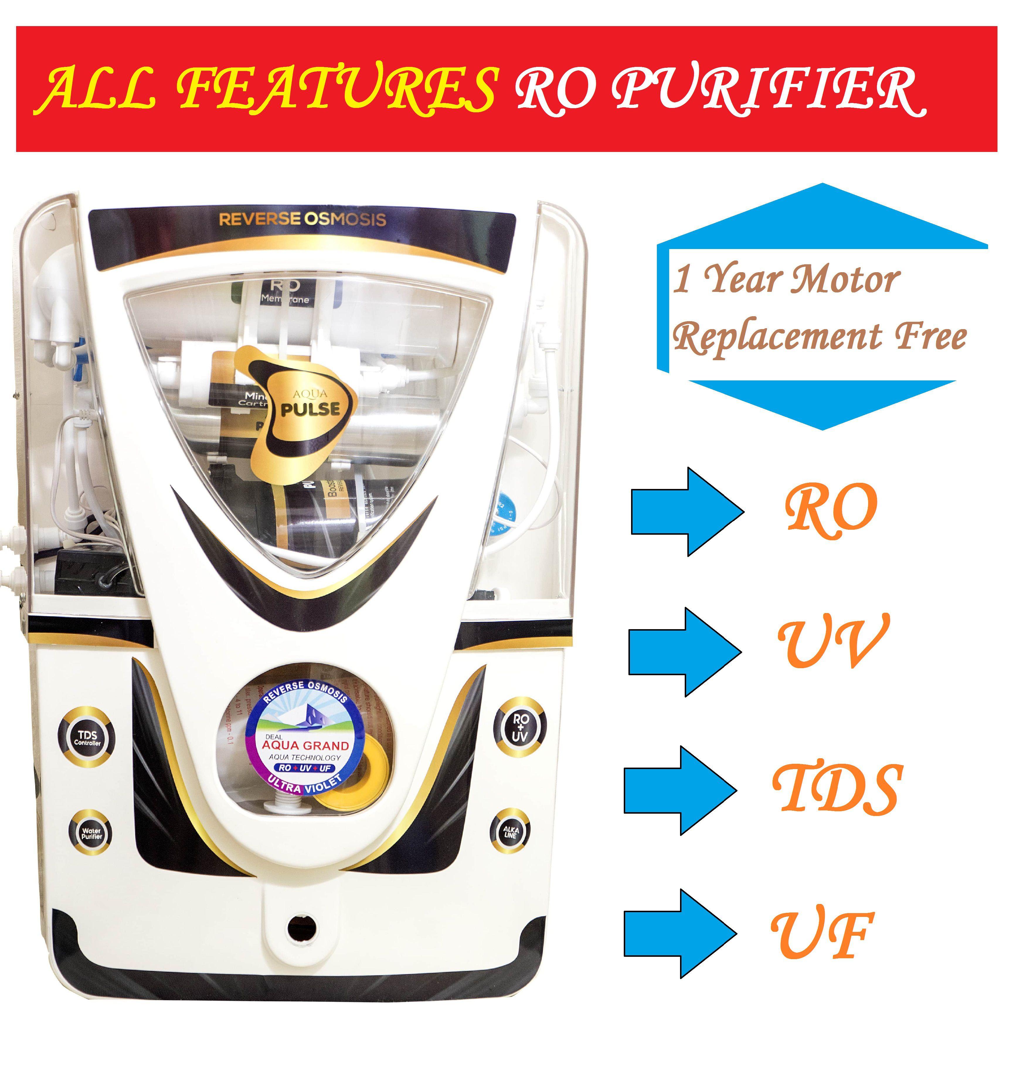 aquagrand deal aqua pulse 12 ltr rouvuf water purifier all features