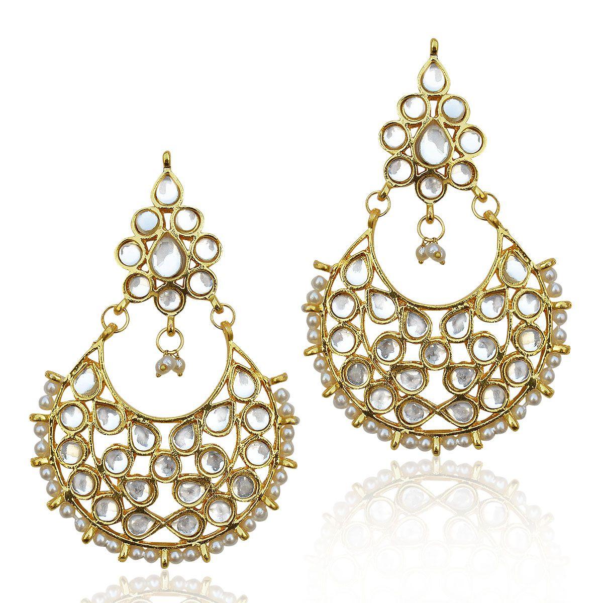 Ethnic Jewels White Alloy Dangle Earring For Women