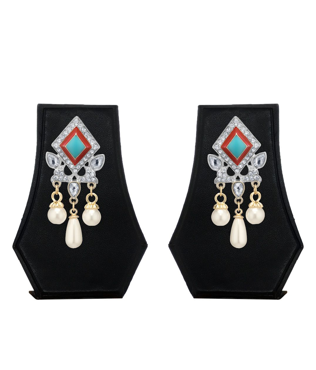 The Pari Multicolor Alloy Dangle Earring For Women