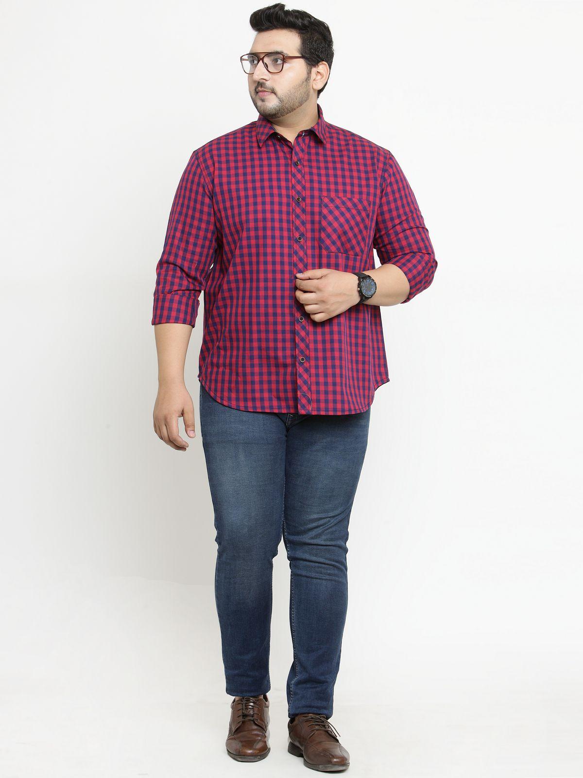 PlusS Red Regular Fit Shirt Single