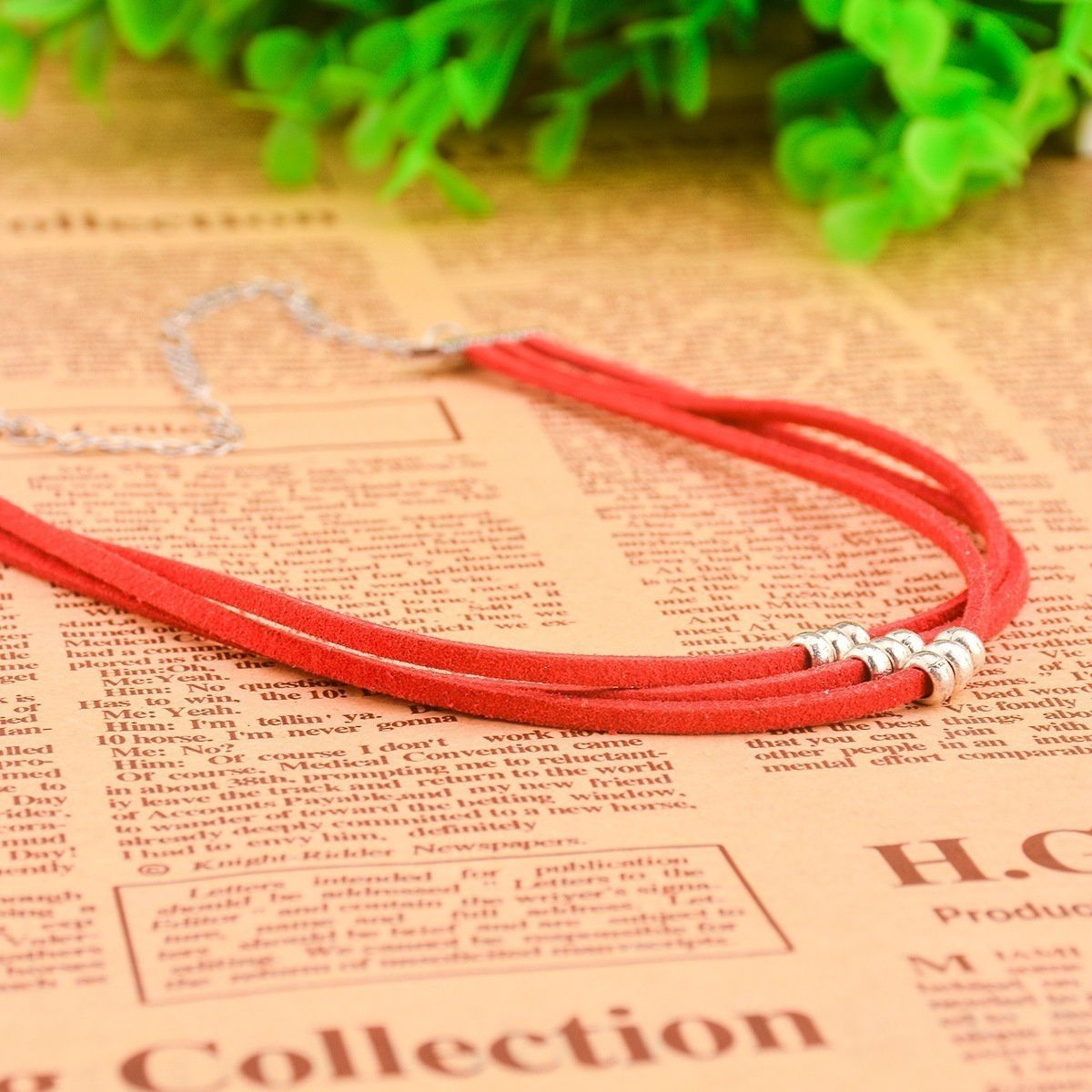 Fashion Necklace Colors Multi Wool Necklace