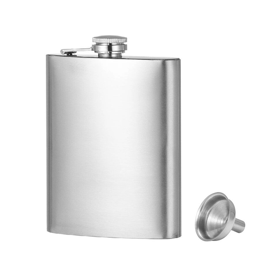 MENZY Steel Hip Flask with Funnel