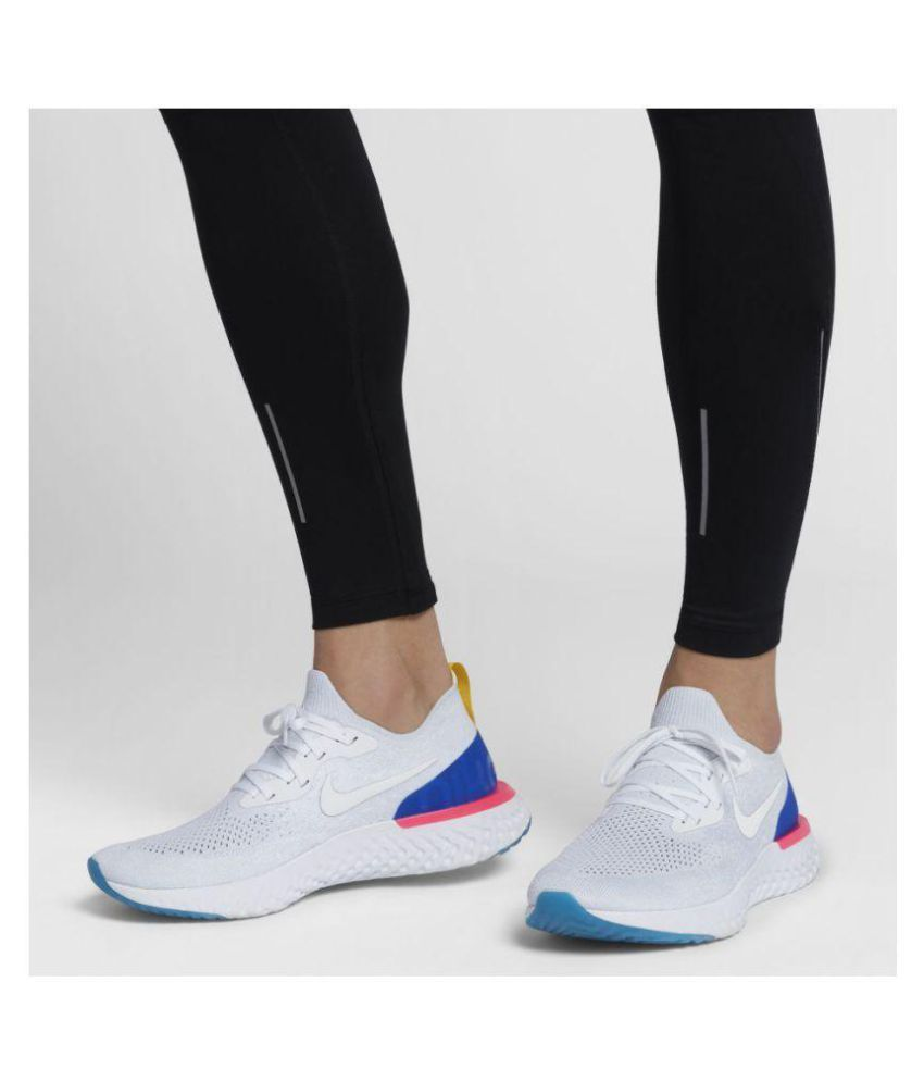 31088825280 Nike Epic React Flyknit White Running Shoes - Buy Nike Epic React Flyknit  White Running Shoes Online at Best Prices in India on Snapdeal