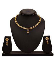 JFL - Traditional Ethnic One Gram Gold Plated Designer Necklace Set for Women & Girls
