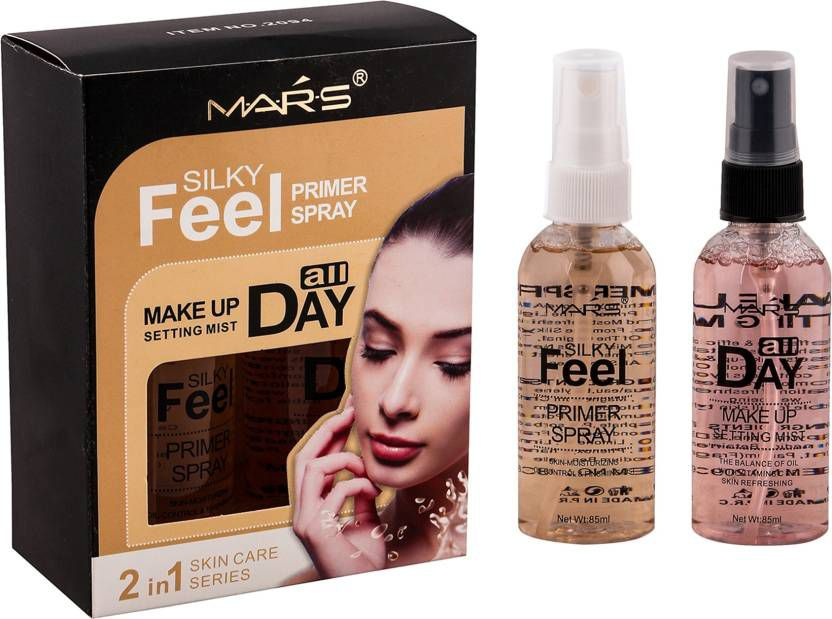 Mars 2 in 1 Silky Feel Primer and Skin Care All Day Face Makeup Setting Spray