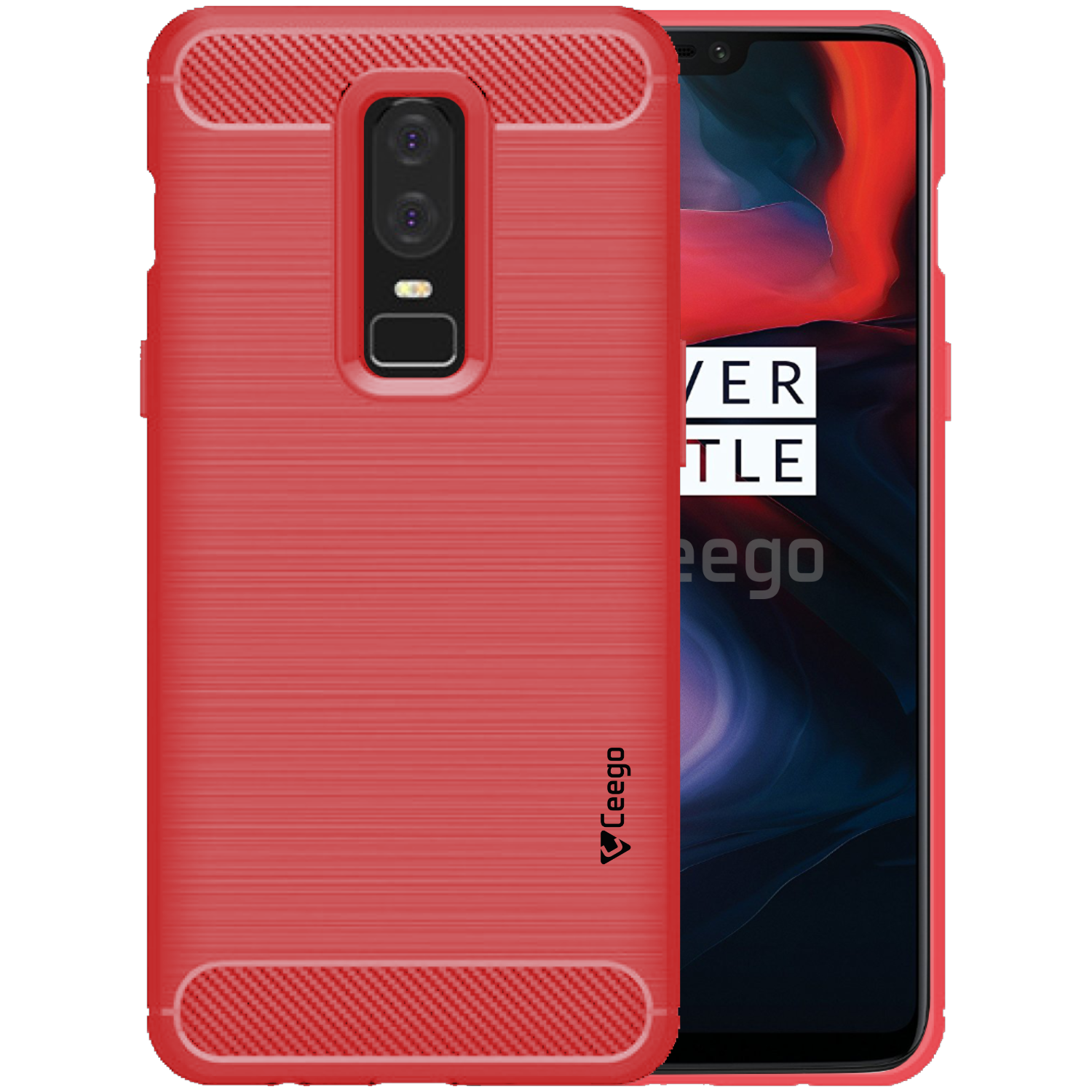 low priced ff71d 47051 OnePlus 6 Plain Cases Ceego - Red