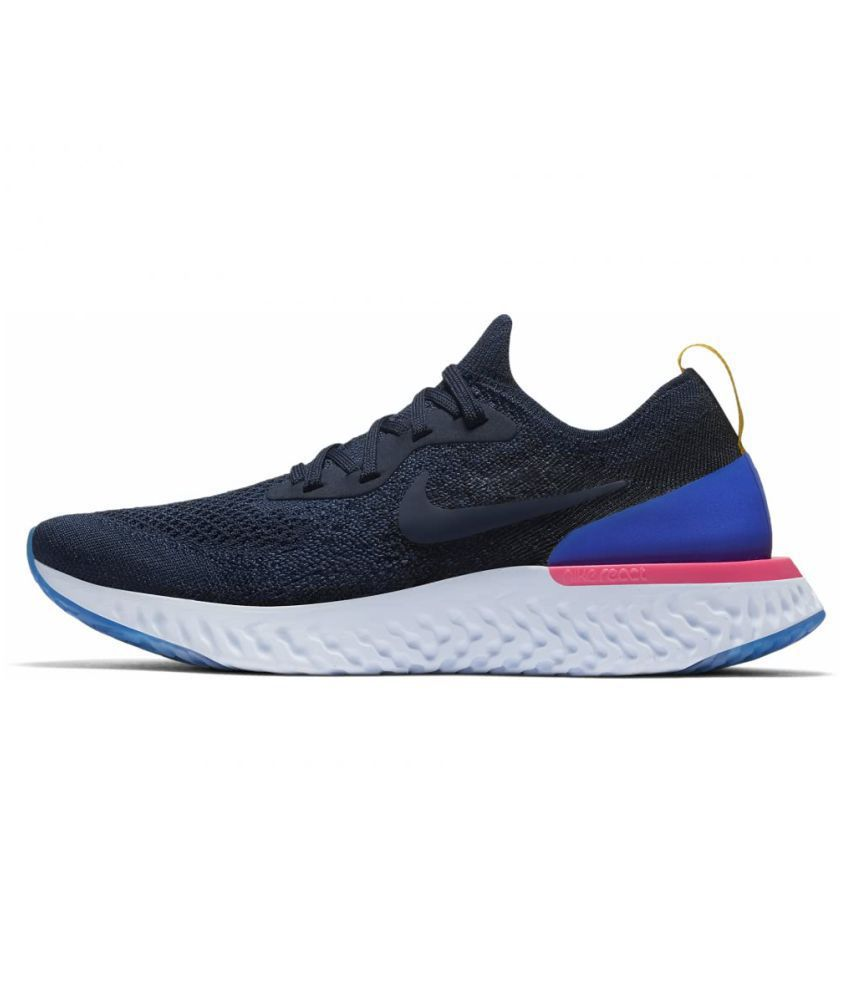 quality design 4b3ab 77d4e Nike 2018 Epic React Flyknit Blue Running Shoes