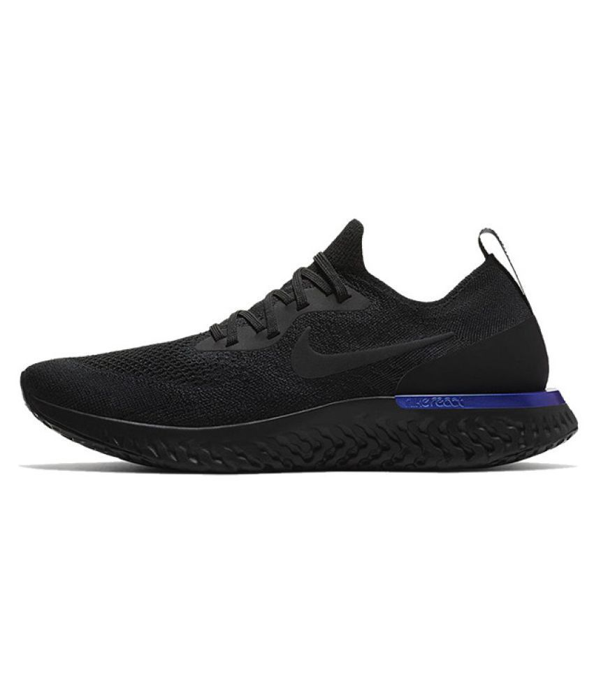 a9a4c1fec83 Nike 2018 Epic React Flyknit Black Running Shoes - Buy Nike 2018 Epic React  Flyknit Black Running Shoes Online at Best Prices in India on Snapdeal