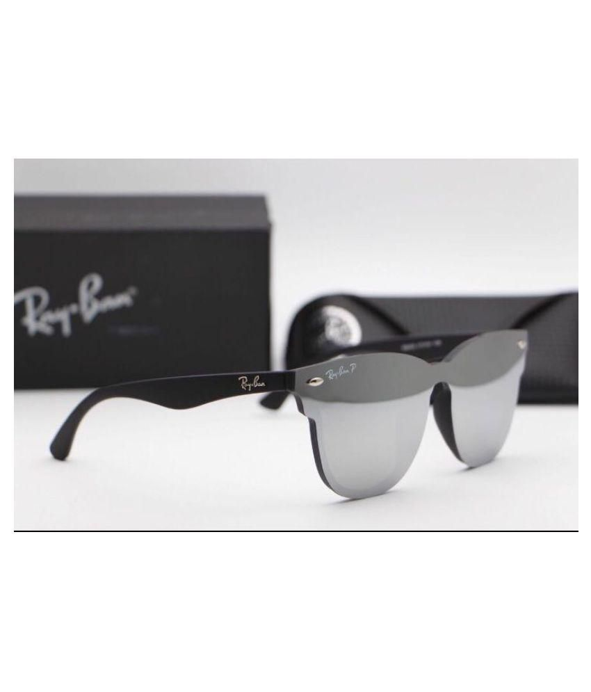 1737deb4e2 Ray Ban Sunglasses Silver Clubmaster Sunglasses ( Blaze 0486 ) - Buy Ray  Ban Sunglasses Silver Clubmaster Sunglasses ( Blaze 0486 ) Online at Low  Price - ...