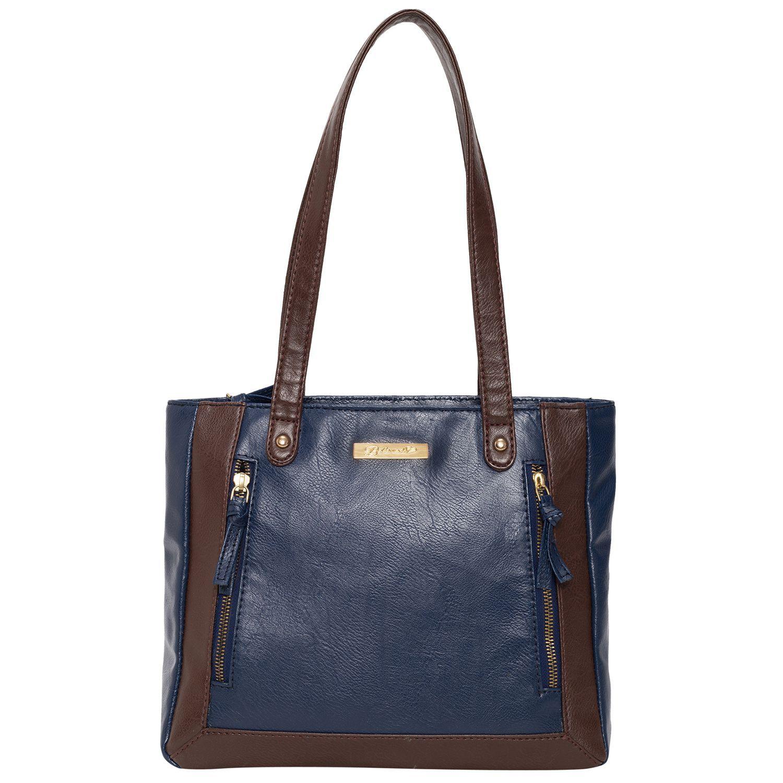 BELOVED Blue Faux Leather Shoulder Bag
