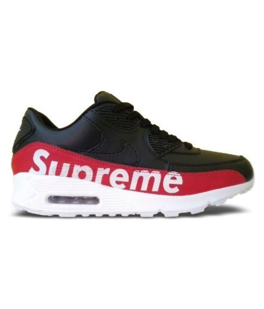 best service ccb31 46bb6 Nike air max 90 supreme Black Running Shoes