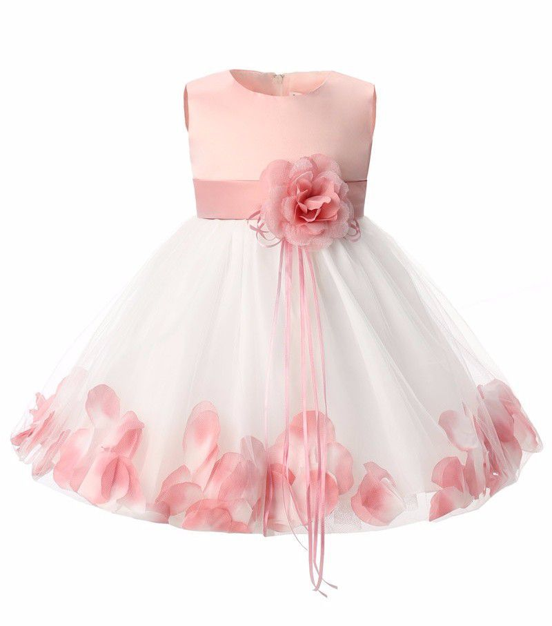 73f9a77fd7 1 YEAR OLD BABY GIRLS PEACHOFF BIRTHDAY DRESS