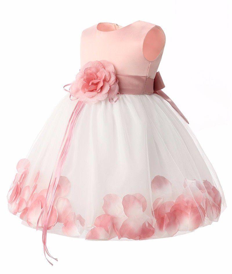 d7bf75a9166b1 1 YEAR OLD BABY GIRLS PEACHOFF BIRTHDAY DRESS - Buy 1 YEAR OLD BABY ...