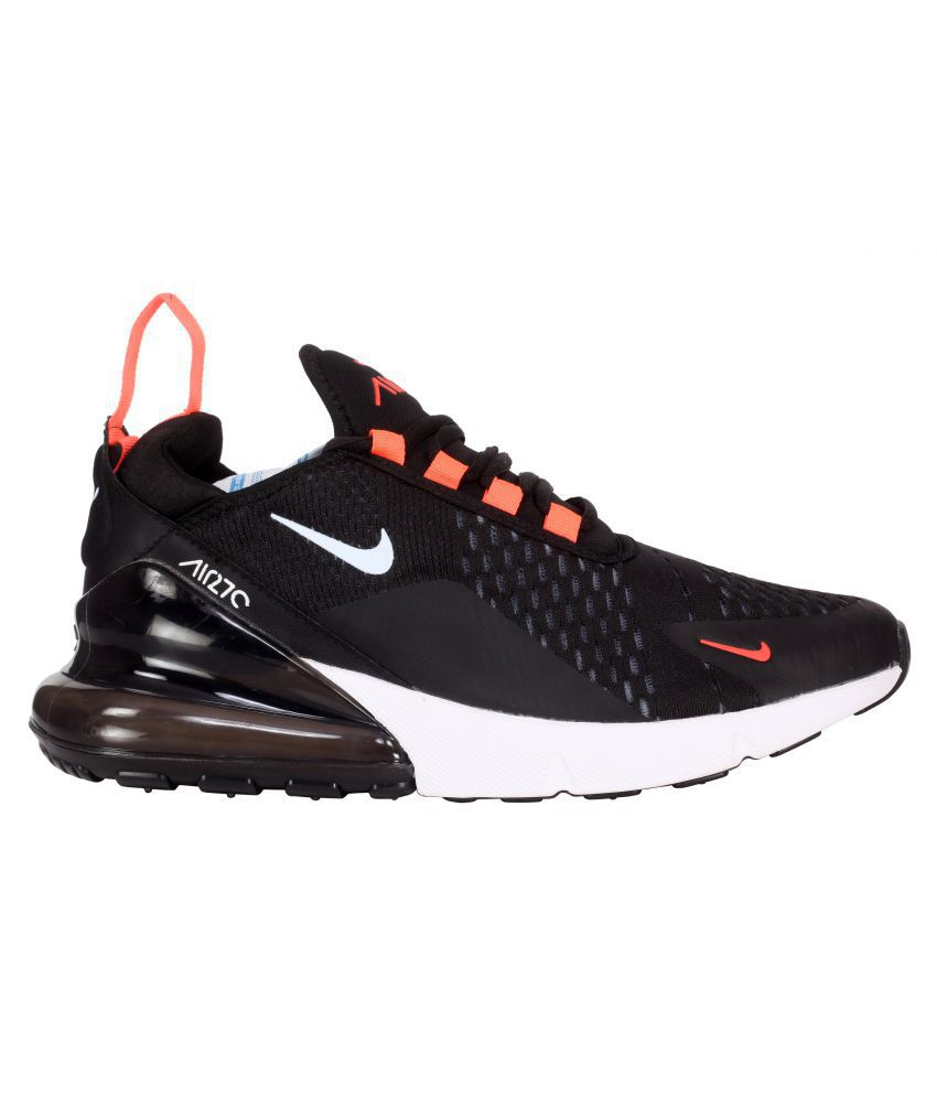 more photos 7c5c8 18843 Nike Air Max 270 Black Running Shoes - Buy Nike Air Max 270 Black Running  Shoes Online at Best Prices in India on Snapdeal