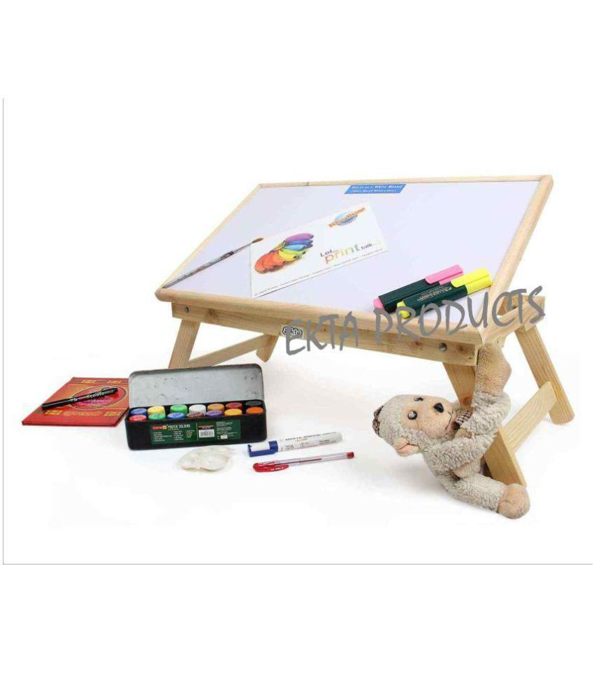 Ekta Product Laptop Table For Upto 48.26 cm (19) White Use as a Whiteboard Table