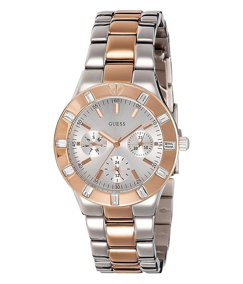 6a7e415024c0 Guess Glisten Multi-Function Stainless Steel Men s Watch W14551L1 Price in  India  Buy Guess Glisten Multi-Function Stainless Steel Men s Watch  W14551L1 ...