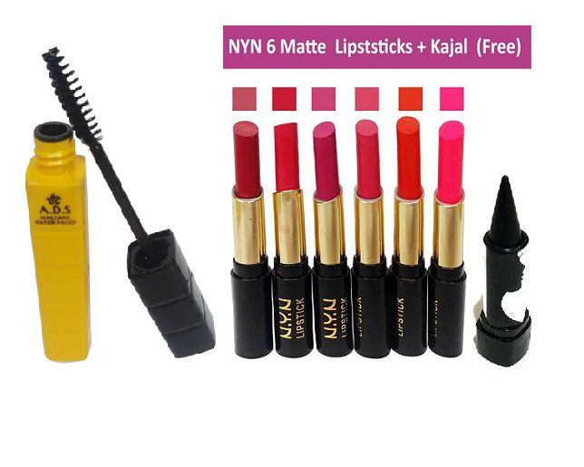 NYN Lipstick Mascara (pack of-6)free kajal 3.5 gm