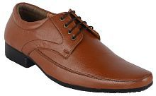Runner Derby Artificial Leather Brown Formal Shoes