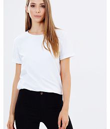 Trends Tower Cotton White T-Shirts