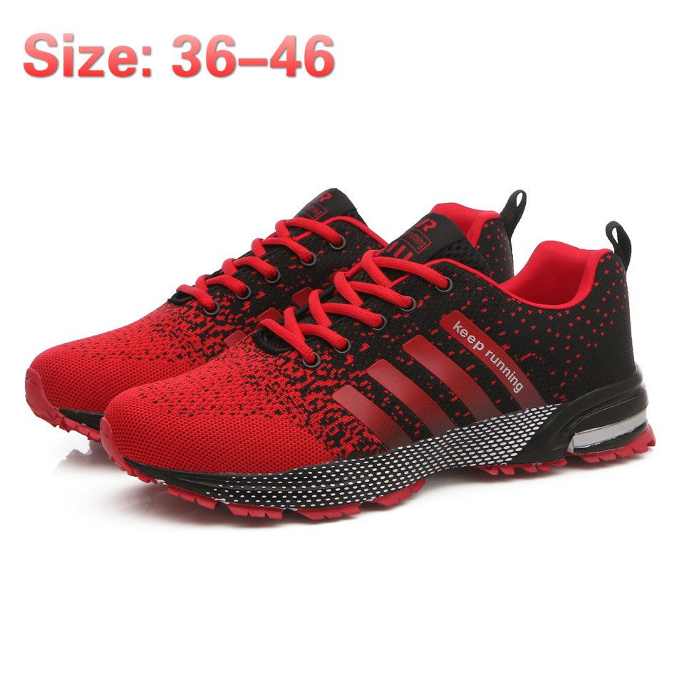 New Fashion Men's Casual Running Sport Shoes Women Breathable Flats Shoes