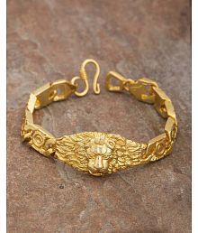 Dare By Voylla Lion Engraved Bold Stylish Bracelet For Men