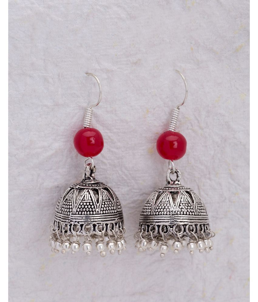 cac1115e5 Jhumka Earrings with Oxidised Silver Plating - Buy Jhumka Earrings with Oxidised  Silver Plating Online at Best Prices in India on Snapdeal