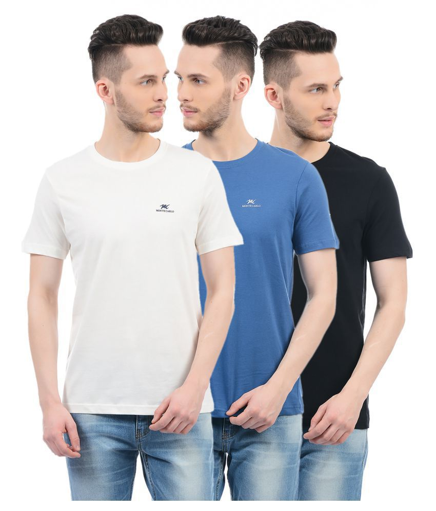 Monte Carlo Multi Round T-Shirt Pack of 3